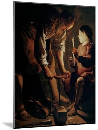 Saint Joseph, the Carpenter-Georges de La Tour-Mounted Giclee Print
