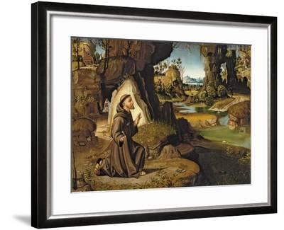 Saint Francis Receiving the Stigmata-Antonio Pirri-Framed Giclee Print