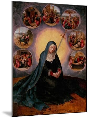 The Virgin of the Seven Sorrows--Mounted Giclee Print