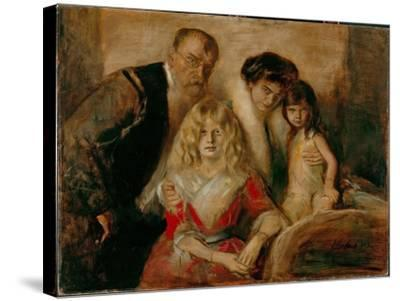 The Artist with His Wife and Children-Franz Von Lenbach-Stretched Canvas Print
