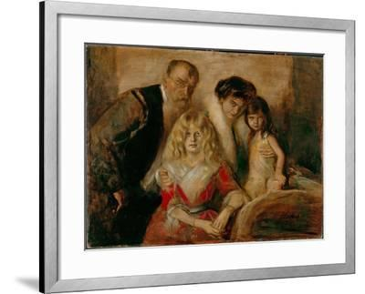 The Artist with His Wife and Children-Franz Von Lenbach-Framed Giclee Print