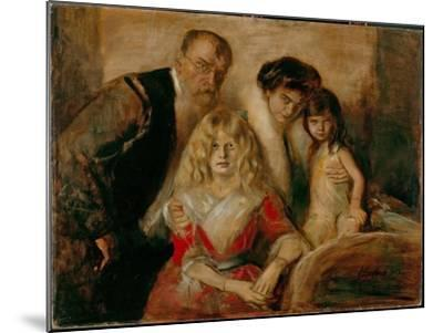 The Artist with His Wife and Children-Franz Von Lenbach-Mounted Giclee Print