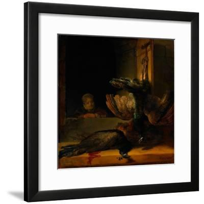 Still Life with Two Peacocks and a Girl, Ca 1639-Rembrandt van Rijn-Framed Giclee Print