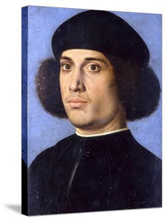 Portrait of a Man, Early16th C-Andrea Previtali-Stretched Canvas Print