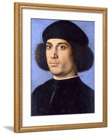 Portrait of a Man, Early16th C-Andrea Previtali-Framed Giclee Print