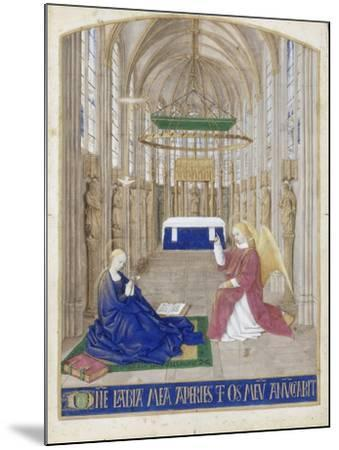 The Annunciation (Hours of Étienne Chevalie)-Jean Fouquet-Mounted Giclee Print