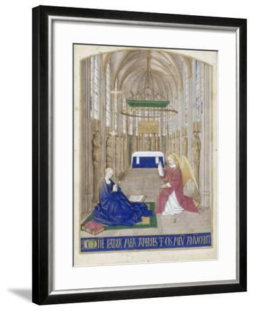 The Annunciation (Hours of Étienne Chevalie)-Jean Fouquet-Framed Giclee Print