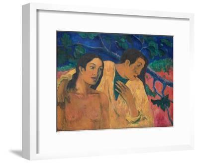 Flight (Tahitian Idyl)-Paul Gauguin-Framed Giclee Print