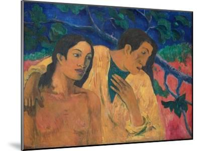 Flight (Tahitian Idyl)-Paul Gauguin-Mounted Giclee Print