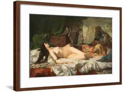 The Odalisque-Mari? Fortuny-Framed Giclee Print