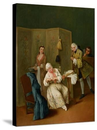 The Indiscreet Gentleman-Pietro Longhi-Stretched Canvas Print