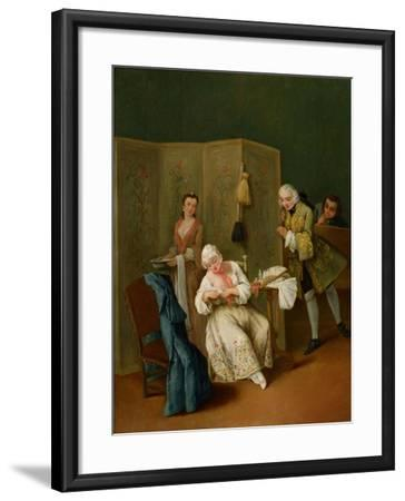 The Indiscreet Gentleman-Pietro Longhi-Framed Giclee Print