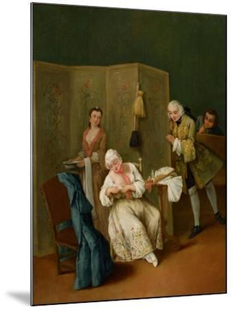 The Indiscreet Gentleman-Pietro Longhi-Mounted Giclee Print