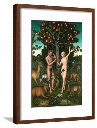 Adam and Eve-Lucas Cranach the Elder-Framed Giclee Print