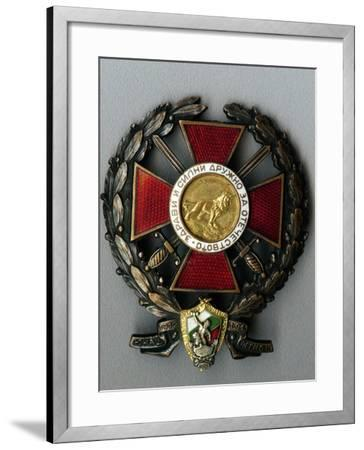 Badge of the Younak Legion for Participation in the Balkan War--Framed Giclee Print