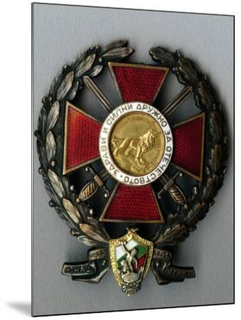 Badge of the Younak Legion for Participation in the Balkan War--Mounted Giclee Print