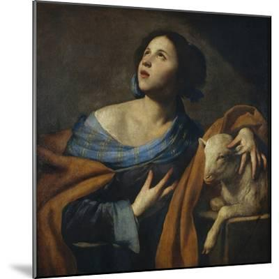 Saint Agnes-Massimo Stanzione-Mounted Giclee Print