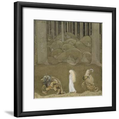 The Princess and the Trolls-John Bauer-Framed Giclee Print