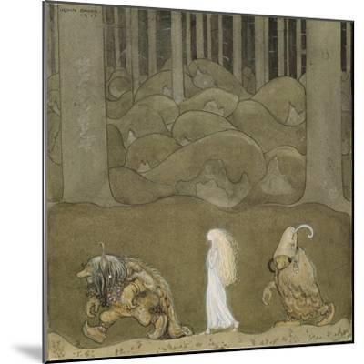 The Princess and the Trolls-John Bauer-Mounted Giclee Print