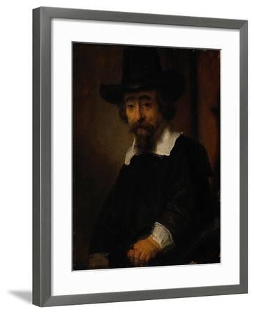 Portrait of Ephraim Bueno-Rembrandt van Rijn-Framed Giclee Print