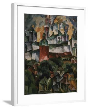 Landscape with the Trinity-Sergius-Monastery, 1920-Aristarkh Vasilyevich Lentulov-Framed Giclee Print
