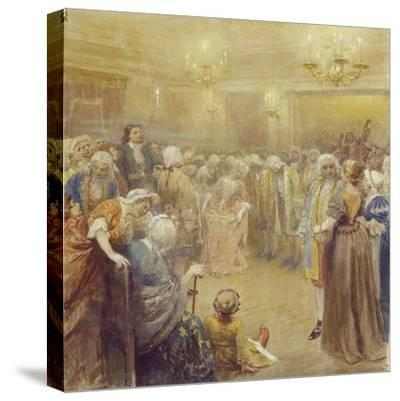 The Assembly at the Time of Peter I-Klavdi Vasilyevich Lebedev-Stretched Canvas Print