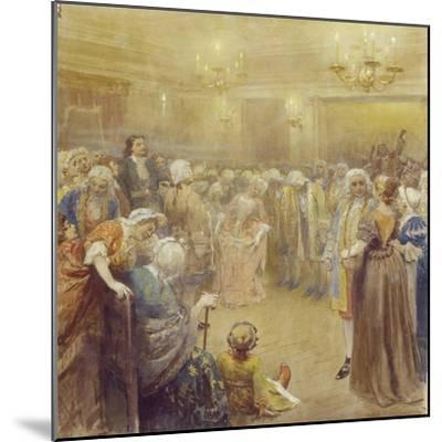 The Assembly at the Time of Peter I-Klavdi Vasilyevich Lebedev-Mounted Giclee Print