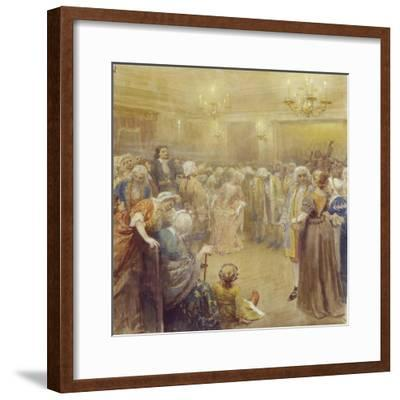 The Assembly at the Time of Peter I-Klavdi Vasilyevich Lebedev-Framed Giclee Print