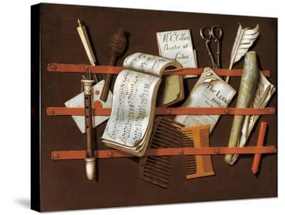 Letter Rack, Ca 1698-Edward Collier-Stretched Canvas Print
