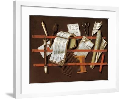 Letter Rack, Ca 1698-Edward Collier-Framed Giclee Print