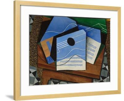 Guitar on a Table-Juan Gris-Framed Giclee Print