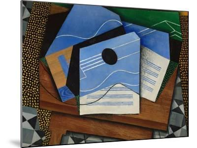 Guitar on a Table-Juan Gris-Mounted Giclee Print