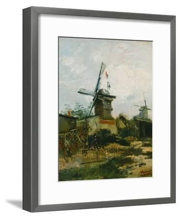 Windmills on Montmartre-Vincent van Gogh-Framed Giclee Print