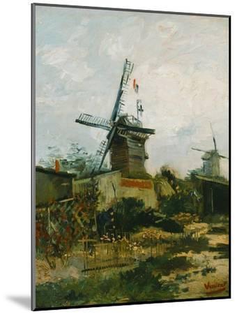 Windmills on Montmartre-Vincent van Gogh-Mounted Giclee Print