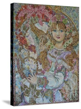 The Christmas Angel-Yumi Sugai-Stretched Canvas Print