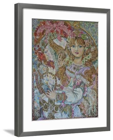 The Christmas Angel-Yumi Sugai-Framed Giclee Print