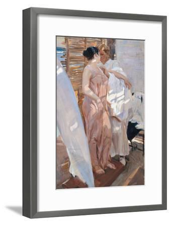 The Pink Robe. after the Bath-Joaqu?n Sorolla y Bastida-Framed Giclee Print