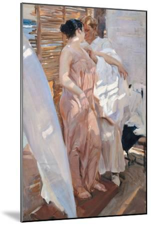 The Pink Robe. after the Bath-Joaqu?n Sorolla y Bastida-Mounted Giclee Print