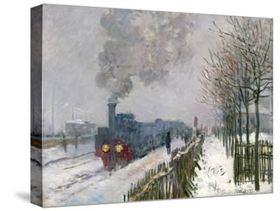 Train in the Snow-Claude Monet-Stretched Canvas Print