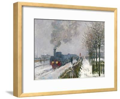 Train in the Snow-Claude Monet-Framed Premium Giclee Print
