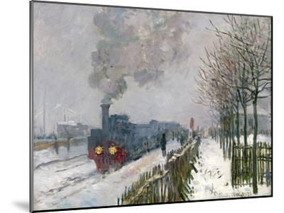 Train in the Snow-Claude Monet-Mounted Premium Giclee Print