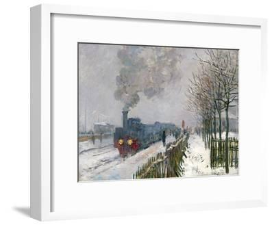 Train in the Snow-Claude Monet-Framed Giclee Print