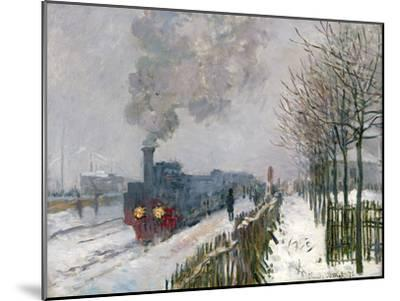 Train in the Snow-Claude Monet-Mounted Giclee Print