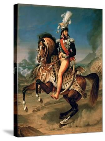 Equestrian Portrait of Joachim Murat (1767-181)-Antoine-Jean Gros-Stretched Canvas Print