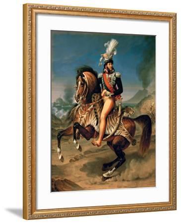 Equestrian Portrait of Joachim Murat (1767-181)-Antoine-Jean Gros-Framed Giclee Print