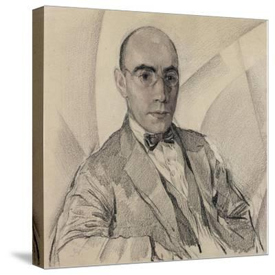 Portrait of the Artist and the Photographer Miron Sherling (1880-195)-Sergei Vasilievich Chekhonin-Stretched Canvas Print