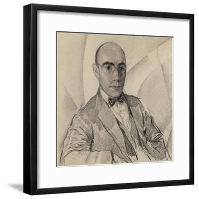 Portrait of the Artist and the Photographer Miron Sherling (1880-195)-Sergei Vasilievich Chekhonin-Framed Giclee Print