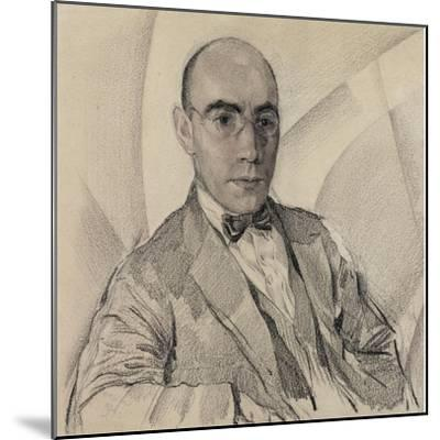 Portrait of the Artist and the Photographer Miron Sherling (1880-195)-Sergei Vasilievich Chekhonin-Mounted Giclee Print