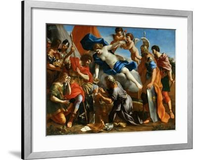 Venus Pouring a Balm on the Wound of Aeneas-Giovanni Francesco Romanelli-Framed Giclee Print
