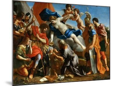 Venus Pouring a Balm on the Wound of Aeneas-Giovanni Francesco Romanelli-Mounted Giclee Print